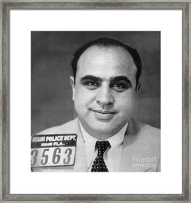 Alphonse Capone (1899-1947) Framed Print by Granger