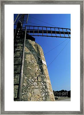 Alphonse Daudet Windmill In Provence Framed Print by Sami Sarkis