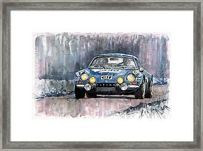 Alpine A 110 Framed Print by Yuriy  Shevchuk