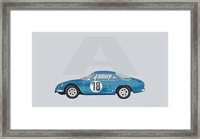 Framed Print featuring the mixed media Alpine A110 by TortureLord Art