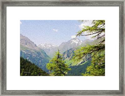 Alpine Altitude Framed Print by Jeffrey Kolker