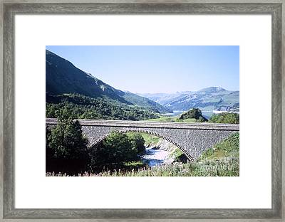 Alpine Bridge With Lake Framed Print