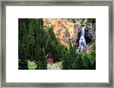 Alpine Cabin Framed Print