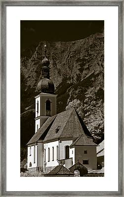 Alpine Church Framed Print