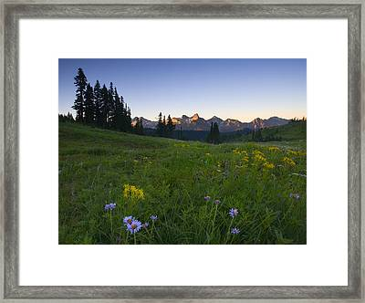 Alpine Dawn Framed Print