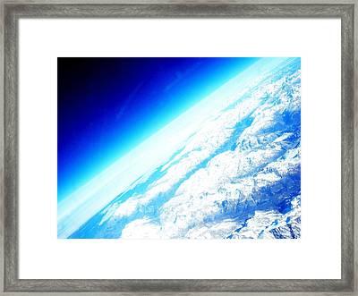Alpine From Sky Framed Print