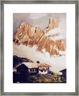 Alpine Home  Framed Print