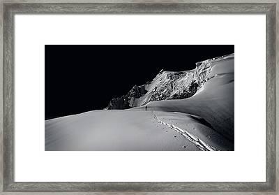 Alpine Journey Framed Print by Simon Steinberger