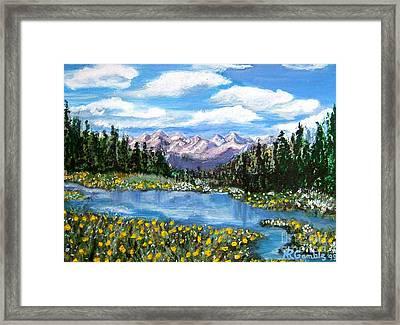 Alpine Lake Colorado Usa Framed Print by Nancy Rucker