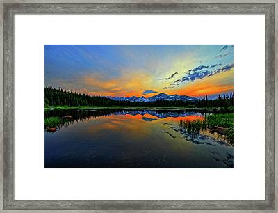 Framed Print featuring the photograph Alpine Lake Glow by Scott Mahon