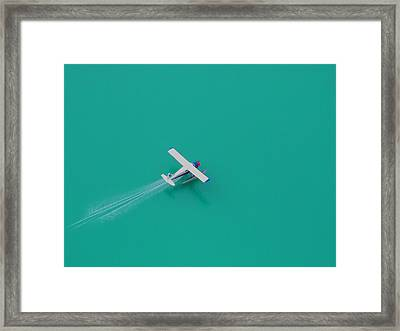 Alpine Lake Landing Framed Print by Mark Alan Perry