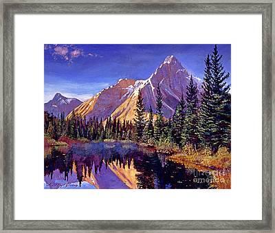 Alpine Lake Mist Framed Print by David Lloyd Glover