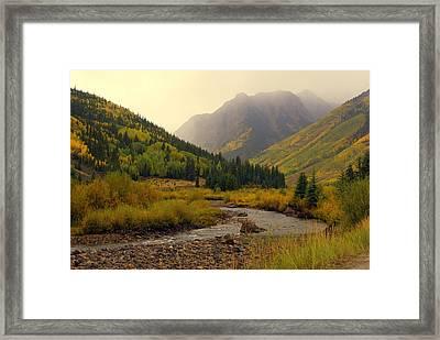 Alpine Loop Fall Framed Print by Marty Koch
