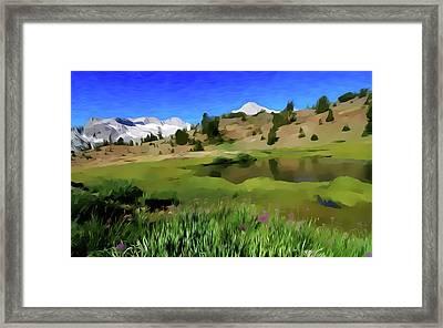 Alpine Meadow By Frank Lee Hawkins Framed Print