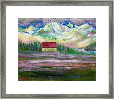 Alpine Mountain Morning Framed Print by Patricia Taylor