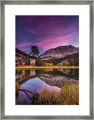Alpine Reflection Framed Print