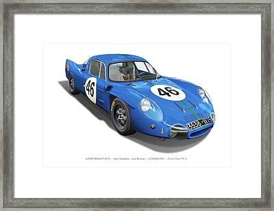 Alpine Renault A210 Framed Print by Alain Jamar