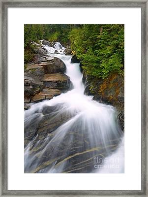 Alpine Rush Framed Print by Mike Dawson