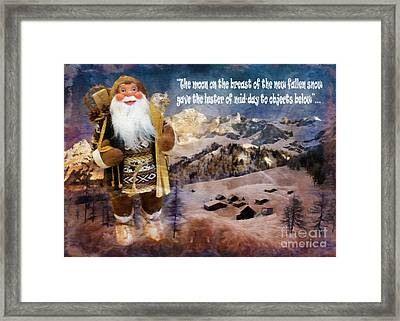 Alpine Santa Card 2015 Framed Print