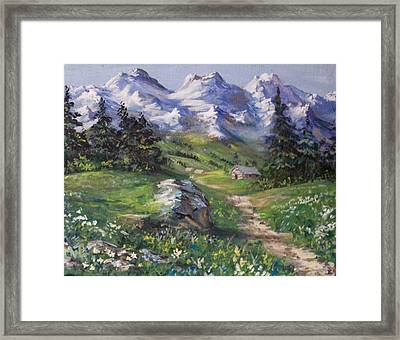 Alpine Splendor Framed Print