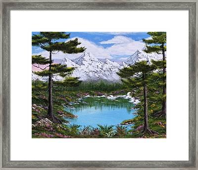 Alpine Spring Galore Framed Print by Larysa Kalynovska