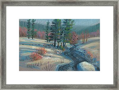 Alpine Stream Framed Print by Donald Maier