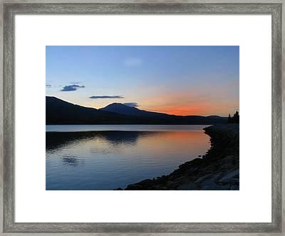 Alpine Sunset Framed Print by Michael Seraphin