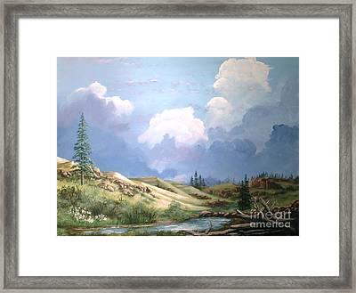 Alpine Vale Framed Print by John Wise