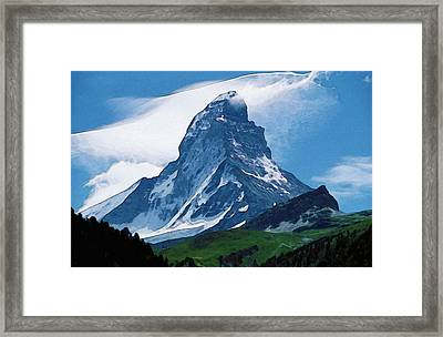 Framed Print featuring the photograph Alps by Artistic Panda