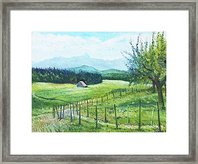 Alps From Geneva Switzerland 2016 Framed Print