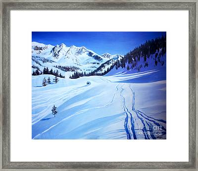 Alps Framed Print by Lin Petershagen