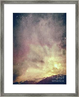 Framed Print featuring the photograph Alps With Dramatic Sky by Silvia Ganora