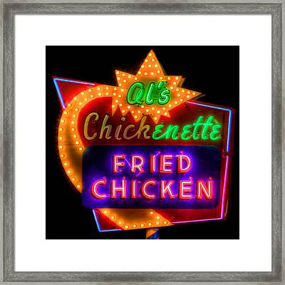 Al's Chickenette Framed Print by Thomas Zimmerman