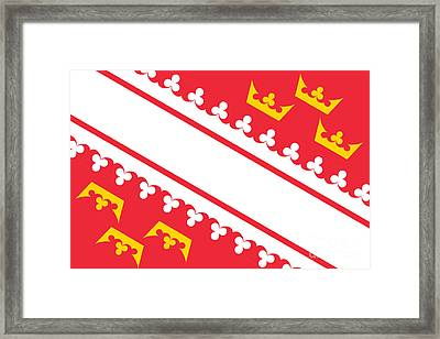 Alsace Flag Framed Print