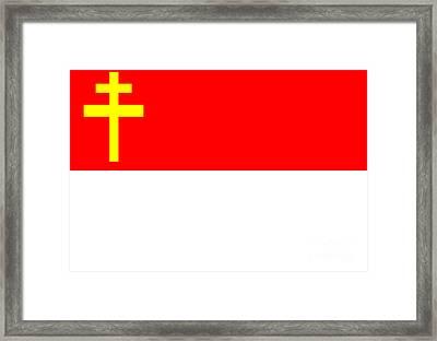 Alsace-lorraine Flag Framed Print