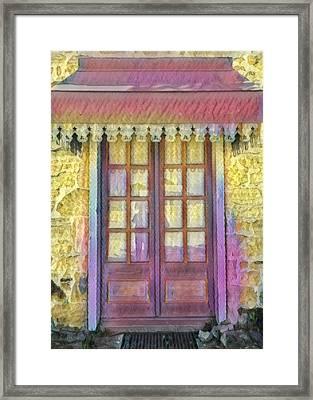Alsatian Historic Home 3 Framed Print by Wendy Biro-Pollard