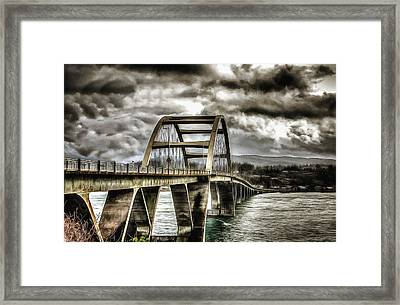 Alsea Bay Bridge Framed Print