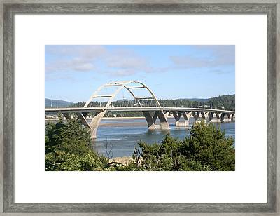 Alsea Bridge Br 7002 Framed Print by Mary Gaines