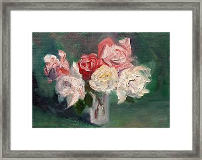 Altadena Roses Framed Print by Athena  Mantle