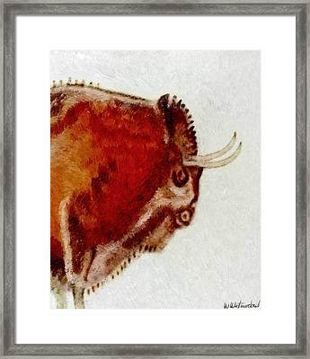 Altamira Prehistoric Bison Detail Framed Print