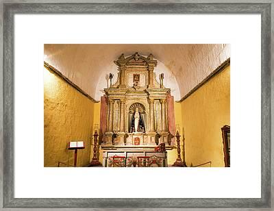 Altar In Santa Catalina Monastery Framed Print by Jess Kraft