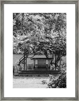 Altar In The Garden Framed Print