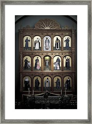 Altar Screen Cathedral Basilica Of St Francis Of Assisi Santa Fe Nm Framed Print by Christine Till