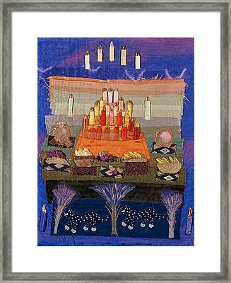 Altar With Trees Framed Print by Roberta Baker