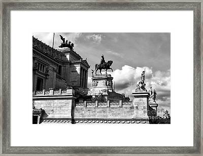 Altare Della Patria Framed Print by John Rizzuto