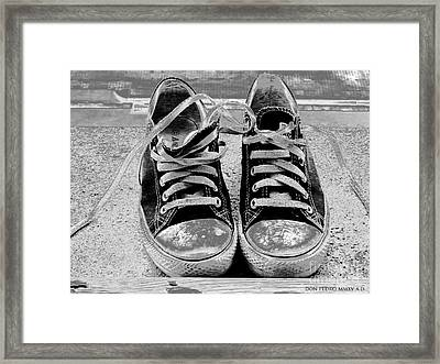 Old Sneakers. Framed Print by Don Pedro De Gracia