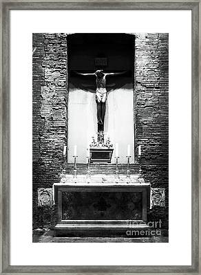 Alter Of Sacrifice Framed Print by John Rizzuto