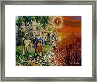 Framed Print featuring the painting Alter Terrain by Steve Roberts