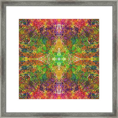 Altered States Of Consciousness #1535 Framed Print by Rainbow Artist Orlando L aka Kevin Orlando Lau