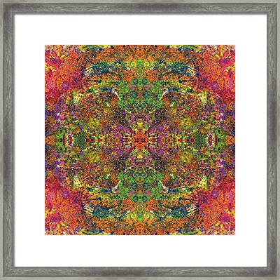 Altered States Of Consciousness #1543 Framed Print by Rainbow Artist Orlando L aka Kevin Orlando Lau